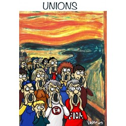 Unions! Serigrafia autografa a tiratura limitata di Vauro Senesi