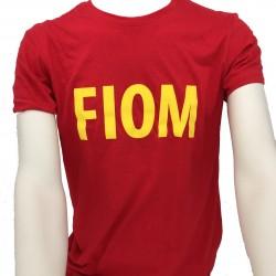T-shirt Uomo Rossa scritta FIOM