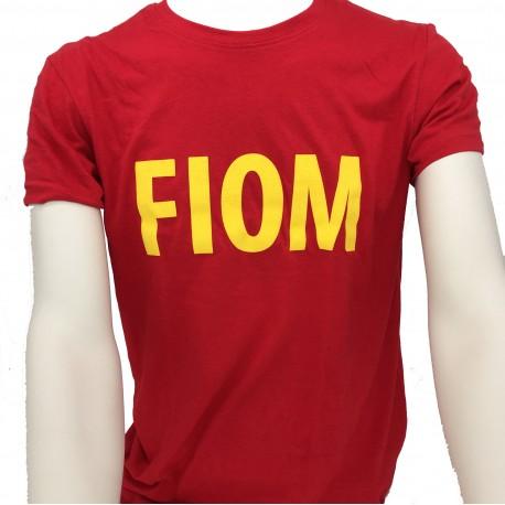T-shirt Rossa scritta FIOM
