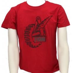 T-shirt Uomo Rossa Logo Fiom