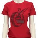 T-shirt Donna Rossa Logo Fiom