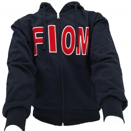 wholesale dealer bb6da 02f7d Felpa Fiom Blu cappuccio